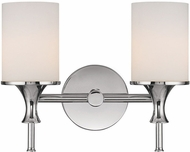 Capital Lighting 1397PN-105 Studio Polished Nickel 2-Light Bath Lighting