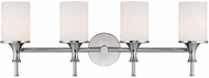 Capital Lighting 1399PN-105 Studio Polished Nickel 4-Light Bathroom Lighting Fixture