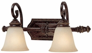 Capital Lighting 1522CB-287 Barclay Traditional Chesterfield Brown 2-Light Vanity Lighting