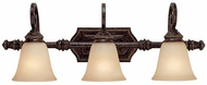 Capital Lighting 1523CB-287 Barclay Traditional Chesterfield Brown 3-Light Vanity Light