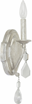 Capital Lighting 1616AS-CR Blakely Antique Silver Wall Light Sconce