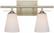 Capital Lighting 1737WG-122 Soho Winter Gold 2-Light Bathroom Sconce