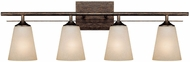 Capital Lighting 1739RT-131 Soho Rustic 4-Light Vanity Lighting Fixture