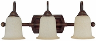 Capital Lighting 1793BB-293 Metro Burnished Bronze 3-Light Bathroom Sconce Lighting