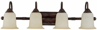 Capital Lighting 1794BB-293 Metro Burnished Bronze 4-Light Bathroom Lighting