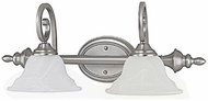 Capital Lighting 1802MN-222 Chandler Matte Nickel 2-Light Bathroom Lighting Fixture