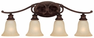 Capital Lighting 1884BB-252 Hill House Burnished Bronze 4-Light Bathroom Vanity Light