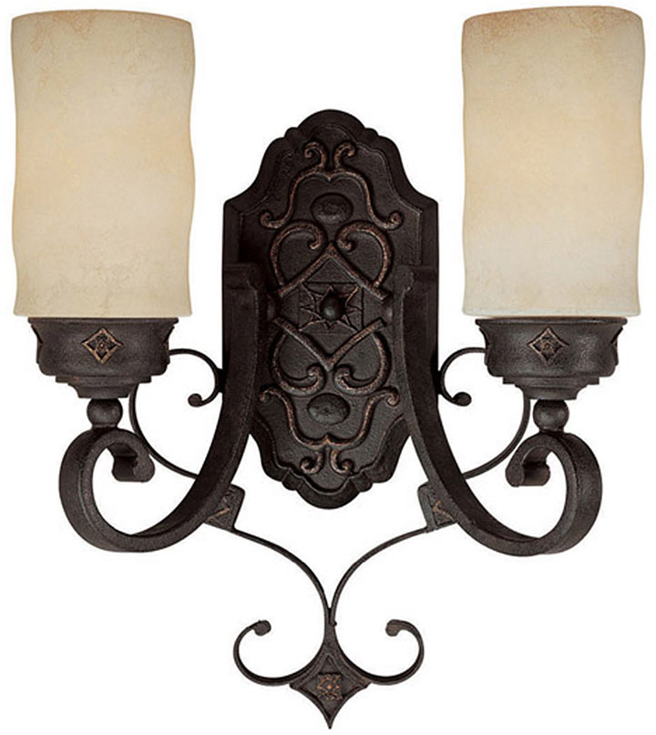 Iron Wall Sconces Lighting : Capital Lighting 1907RI-125 River Crest Traditional Rustic Iron Wall Light Sconce - CPT-1907RI-125