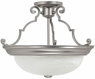 Capital Lighting 2717MN Matte Nickel Semi-Flush Flush Ceiling Light Fixture