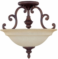 Capital Lighting 3071BB Chandler Burnished Bronze Semi-Flush Home Ceiling Lighting