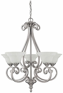 Capital Lighting 3075MN-222 Chandler Matte Nickel Chandelier Lamp