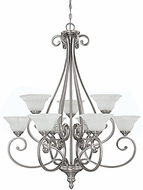 Capital Lighting 3079MN-222 Chandler Matte Nickel Ceiling Chandelier