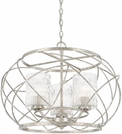 Capital Lighting 310631AS-301 Riviera Modern Antique Silver 24  Pendant Light