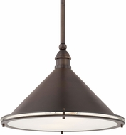 Capital Lighting 312221BB Langley Burnished Bronze 17.75  Drop Ceiling Lighting