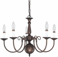Capital Lighting 3125BB Burnished Bronze Hanging Chandelier