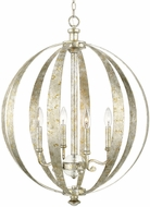 Capital Lighting 313341SG Charleston Silver and Gold Leaf Pendant Lamp