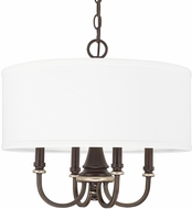 Capital Lighting 314941CZ-662 Asher Champagne Bronze Drum Hanging Lamp