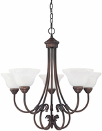 Capital Lighting 3226BB-220 Hometown Burnished Bronze Ceiling Chandelier