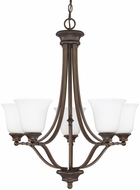 Capital Lighting 3415BB-242 Belmont Burnished Bronze Ceiling Chandelier