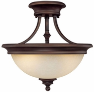 Capital Lighting 3418BB Belmont Burnished Bronze Semi-Flush Overhead Lighting Fixture