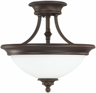 Capital Lighting 3418BB-SW Belmont Burnished Bronze Semi-Flush Ceiling Lighting