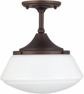Capital Lighting 3533BB-129 Burnished Bronze Semi-Flush Ceiling Light