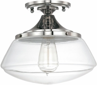 Capital Lighting 3537PN-134 Polished Nickel Flush Mount Light Fixture