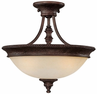 Capital Lighting 3563BB Hill House Burnished Bronze Semi-Flush Flush Mount Lighting Fixture