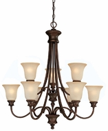 Capital Lighting 3569BB-252 Hill House Burnished Bronze Chandelier Lamp