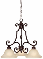 Capital Lighting 3583CB-259 Barclay Traditional Chesterfield Brown Ceiling Chandelier