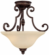 Capital Lighting 3588CB Barclay Traditional Chesterfield Brown Semi-Flush Flush Ceiling Light Fixture