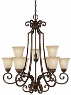 Capital Lighting 3589CB-287 Barclay Traditional Chesterfield Brown Chandelier Light
