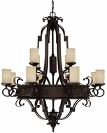 Capital Lighting 3602RI-125 River Crest Traditional Rustic Iron Lighting Chandelier