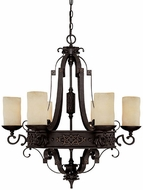 Capital Lighting 3606RI-125 River Crest Traditional Rustic Iron Chandelier Light