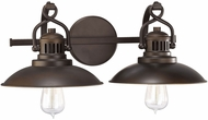 Capital Lighting 3792BB ONeill Retro Burnished Bronze 2-Light Vanity Lighting Fixture