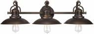 Capital Lighting 3793BB ONeill Vintage Burnished Bronze 3-Light Bathroom Vanity Light Fixture