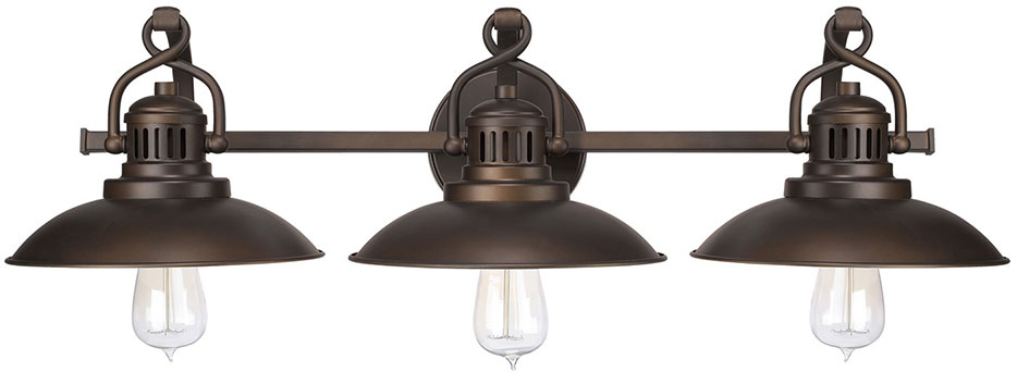 Capital Lighting 3793bb Oneill Vintage Burnished Bronze 3 Light Bathroom Vanity Light Fixture