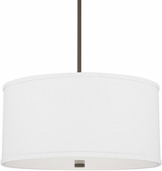 Capital Lighting 3910BB-457 Midtown Burnished Bronze Drum Hanging Light