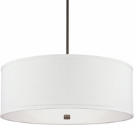 Capital Lighting 3911BB-400 Midtown Burnished Bronze Drum Hanging Pendant Lighting