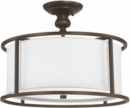 Capital Lighting 3914BB-459 Midtown Burnished Bronze Semi-Flush Overhead Lighting Fixture