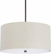 Capital Lighting 3922BB-613 Loft Burnished Bronze Drum Hanging Light Fixture