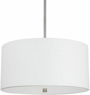 Capital Lighting 3922MN-623 Loft Matte Nickel Drum Drop Lighting