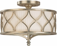 Capital Lighting 4003WG-487 Fifth Avenue Winter Gold Semi-Flush Flush Mount Light Fixture