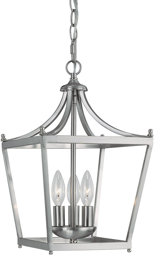 Capital Lighting 4036BN Stanton Brushed Nickel Foyer Light Fixture. Loading zoom  sc 1 st  Affordable L&s & Capital Lighting 4036BN Stanton Brushed Nickel Foyer Light Fixture ... azcodes.com
