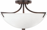 Capital Lighting 4037BB-SW Stanton Burnished Bronze Semi-Flush Home Ceiling Lighting