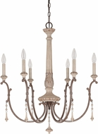 Capital Lighting 4096FO Chateau Traditional French Oak Chandelier Light