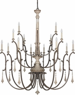 Capital Lighting 4098FO Chateau Traditional French Oak Chandelier Lighting