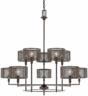 Capital Lighting 411101RS-653 Bennett Modern Russet Chandelier Light