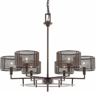 Capital Lighting 411161RS-653 Bennett Contemporary Russet Ceiling Chandelier