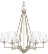 Capital Lighting 411261BS-317 Arden Contemporary Brushed Silver Chandelier Light